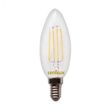 Ampoule LED filament E14 4W 410lm 230V Flamme