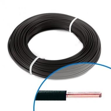 Fil électrique rigide HO7VU 1.5² noir - Couronne de 100m