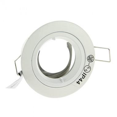 anneau fixe rond bbc ip44 pour spot encastr 81mm blanc. Black Bedroom Furniture Sets. Home Design Ideas