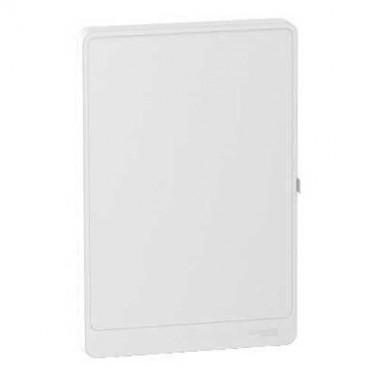 schneider resi9 porte styl blanche pour tableau lectrique 13 modules 4 rang es r9h13424. Black Bedroom Furniture Sets. Home Design Ideas