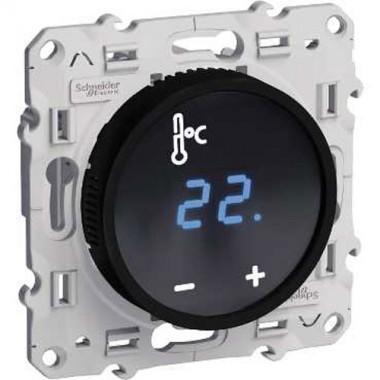 schneider odace m canisme thermostat cran tactile noir s520509. Black Bedroom Furniture Sets. Home Design Ideas