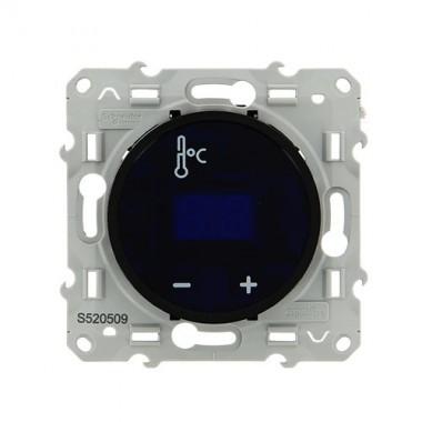 SCHNEIDER Odace Mécanisme thermostat fil pilote à écran tactile noir - S520509