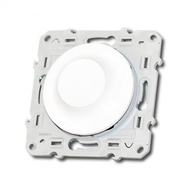 Interrupteur variateur rotatif schneider odace 600w blanc s520511 - Variateur de lumiere brico depot ...