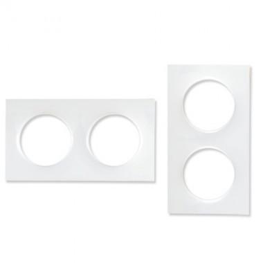 SCHNEIDER Odace Plaque double blanche