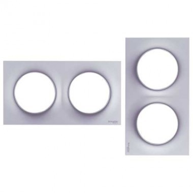 SCHNEIDER Odace Plaque double alu - S520704E