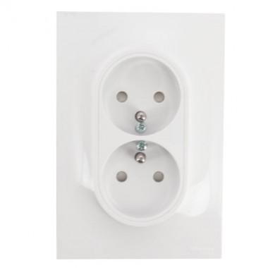 SCHNEIDER Odace Prise de courant 2P+T double spécial rénovation - S521089