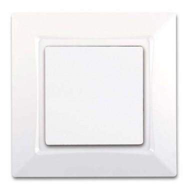 SIEMENS Delta One Interrupteur va et vient à voyant complet - Blanc
