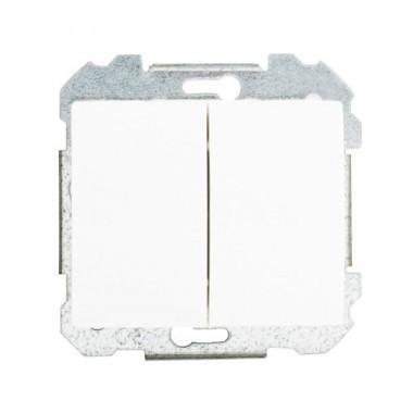 SIEMENS Delta Iris Mécanisme interrupteur double va et vient - Blanc