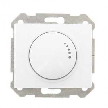 interrupteur variateur rotatif siemens delta iris 500w blanc. Black Bedroom Furniture Sets. Home Design Ideas