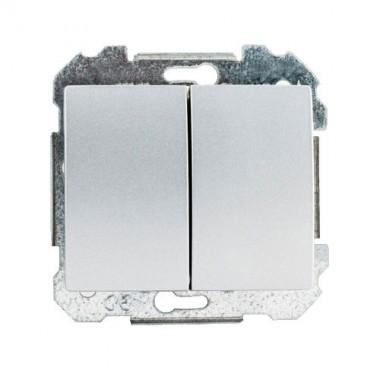 SIEMENS Delta Iris Mécanisme interrupteur va et vient + poussoir - Silver