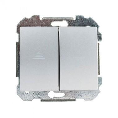 SIEMENS Delta Iris Mécanisme interrupteur volets roulants - Silver
