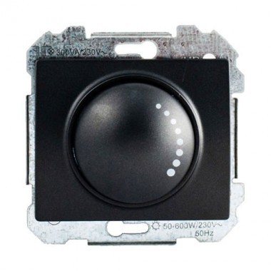 interrupteur variateur rotatif siemens delta iris 500w anthracite. Black Bedroom Furniture Sets. Home Design Ideas