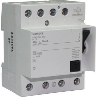 SIEMENS Interrupteur différentiel tétrapolaire 40A 30mA type A