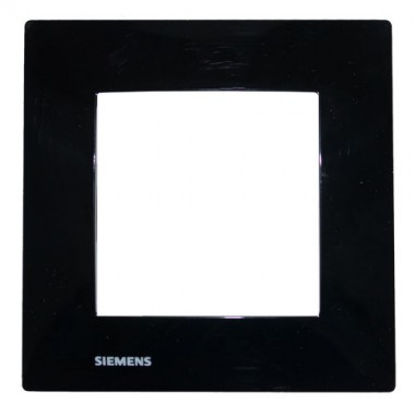SIEMENS Delta Viva Plaque simple - Noir