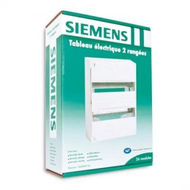 SIEMENS Tableau électrique nu 2 rangées - 2