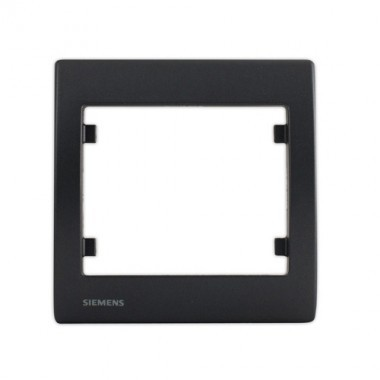 SIEMENS Delta Iris Plaque simple anthracite
