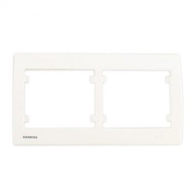 SIEMENS Delta Iris Plaque double horizontale - Blanc