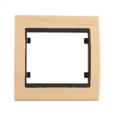 SIEMENS Delta Iris Plaque simple bois hêtre