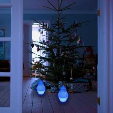 Père Noël lumineux à LED multicolore sans fil étanche - 3