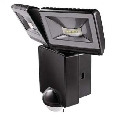 theben luxa projecteur extérieur led 2x8w noir avec détecteur de