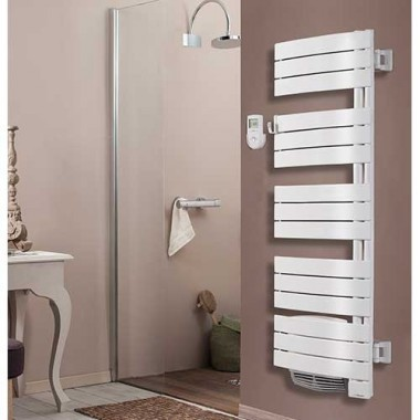 THERMOR Allure digital Sèche-serviettes avec soufflerie Blanc satin pivotant à droite 1750W - 490661