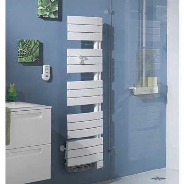 THERMOR Allure digital étroit Sèche-serviettes Blanc satin 1500W avec soufflerie - 490751