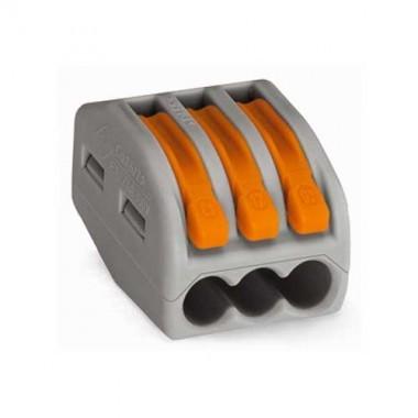 WAGO 15 bornes automatiques fils souples et rigides 3x2.5² S222 - 2
