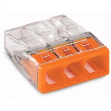 WAGO Sachet de 10 mini-bornes de connexion 3 fils S2273 - 3