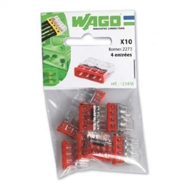 WAGO Sachet de 10 mini-bornes de connexion 4 fils S2273 - 2