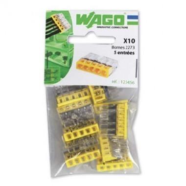 WAGO Sachet de 10 mini-bornes de connexion 5 fils S2273 - 2