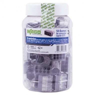 WAGO Pot de 50 bornes de connexion 8 entrées S273