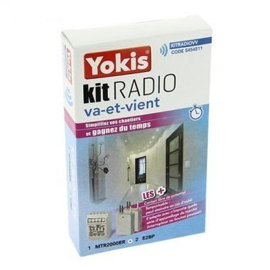 YOKIS Kit radio va et vient 1 télérupteur et 2 émetteurs radio - KITRADIOVV / 5454511