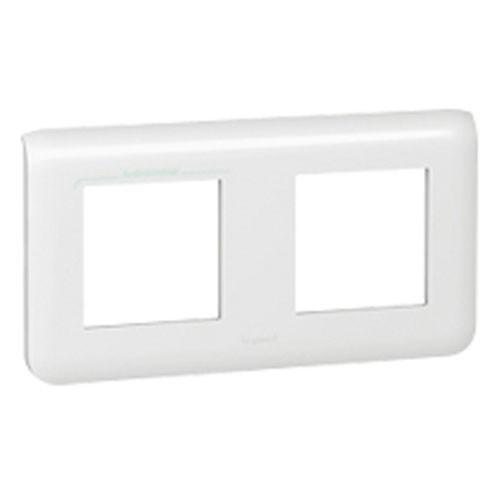 legrand mosaic plaque double horizontale e71 blanche. Black Bedroom Furniture Sets. Home Design Ideas