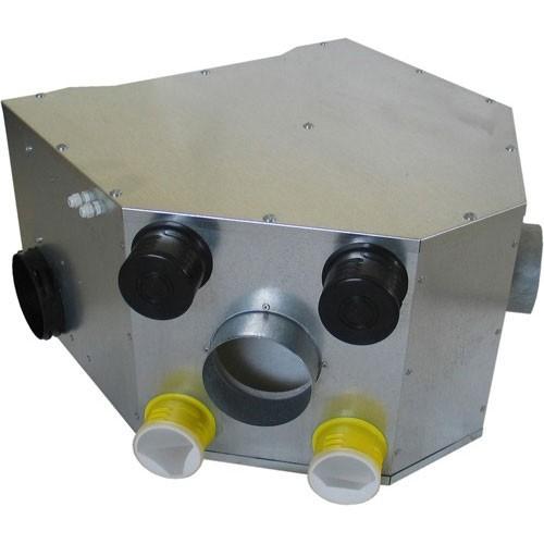 Kit vmc double flux m tallique avec t l commande dmo for Vmc double flux sauter