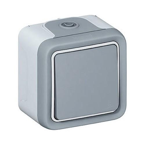 bouton poussoir legrand plexo tanche complet gris ip55 069720. Black Bedroom Furniture Sets. Home Design Ideas