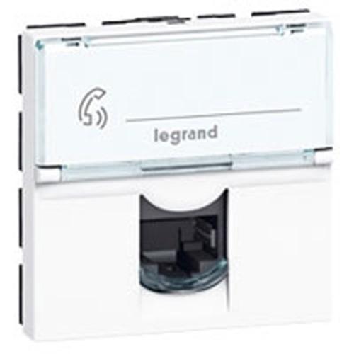 Prise rj45 legrand mosaic cat gorie 6 blanc 076565 - Prise rj45 legrand ...