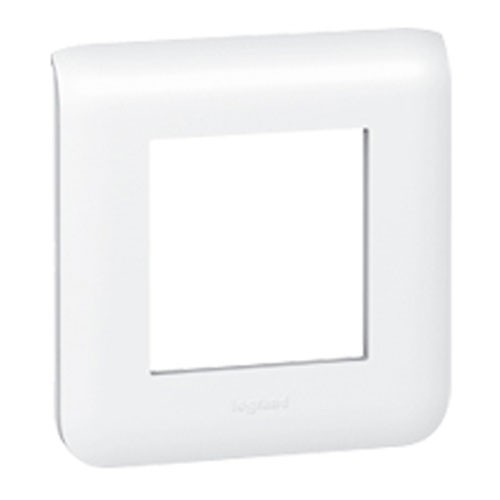 plaque legrand mosaic simple blanc 078802. Black Bedroom Furniture Sets. Home Design Ideas
