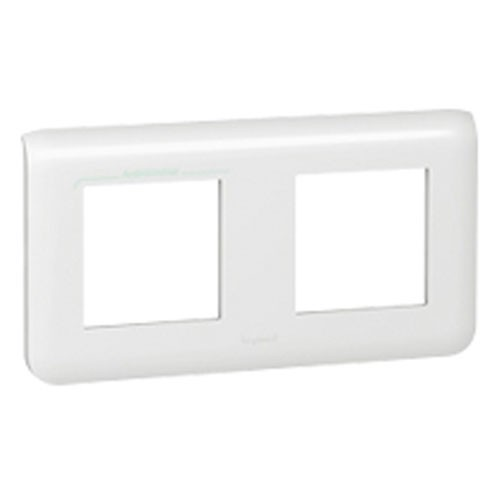 plaque legrand mosaic double horizontale blanc 078804. Black Bedroom Furniture Sets. Home Design Ideas
