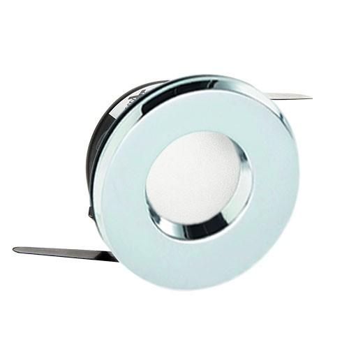 Spot encastr fixe rond ip65 pour salle de bain chrome - Spot salle de bain etanche ip65 ...