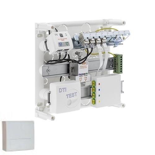 Coffret de communication grade 2tv siemens 4rj45 avec dtio - Branchement coffret de communication ...