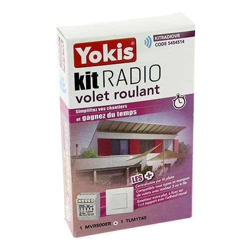 kit radio volet roulant yokis 1 micro module et 1 t l commande kitradiovr. Black Bedroom Furniture Sets. Home Design Ideas
