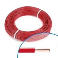 Fil électrique rigide HO7VU 1.5² rouge - Couronne de 100m