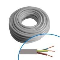 Câble électrique souple HO5VVF 3G1.5² gris - Couronne de 50m