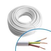 Câble électrique souple HO5VVF 3G1.5² blanc - Couronne de 50m