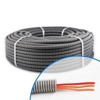 Gaine électrique ICTA préfilée 3G1.5 D16 O/O/R - Couronne de 100m
