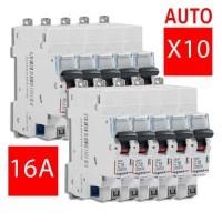 LEGRAND Lot de 10 disjoncteurs électriques DNX3-16A auto