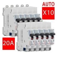 LEGRAND Lot de 10 disjoncteurs électriques DNX3-20A auto