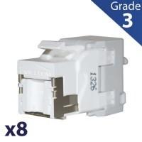 BATILEC Lot de 8 RJ45 femelle Grade 3 catégorie 6