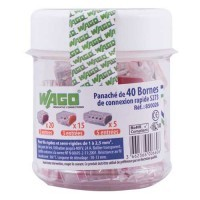 WAGO Pot de 40 bornes de connexion mixtes S273