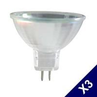 Lot de 3 ampoules halogènes dichroïques G5.3 50W